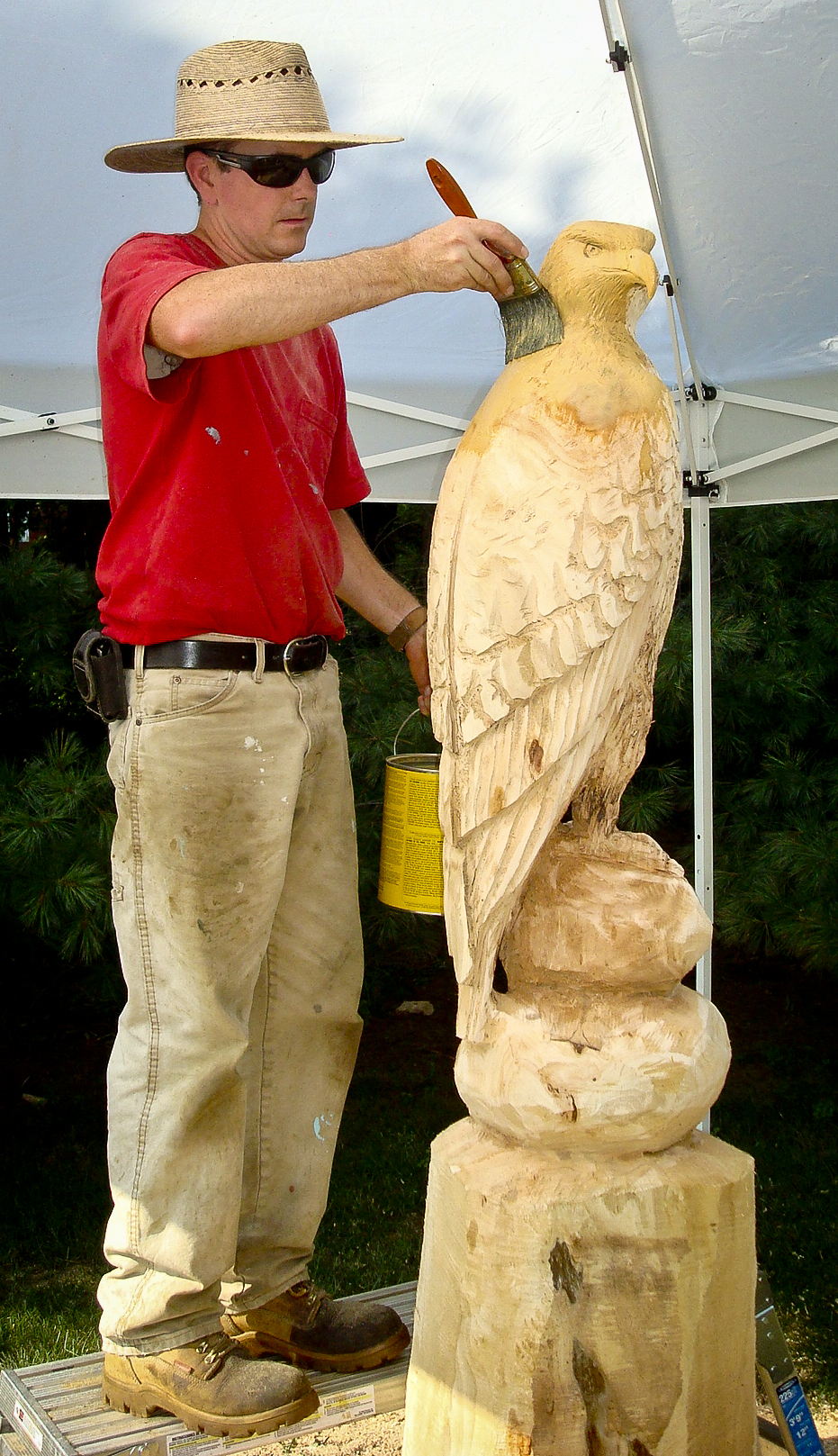 Red tailed hawk custom wood carvings more