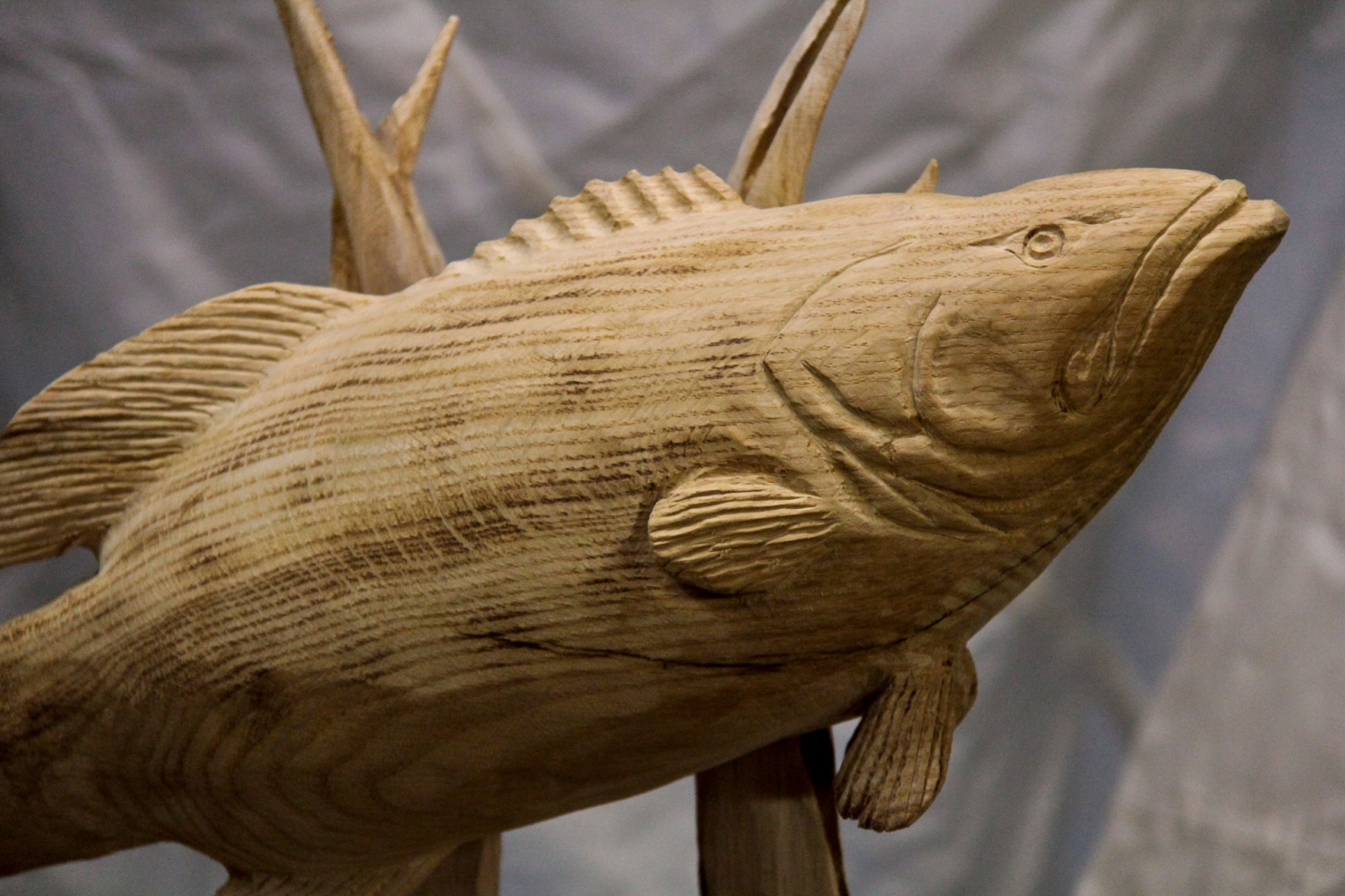 ″ large mouth bass carving custom sculpture sign company