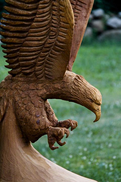 Ft eagle carving in v formation custom wood carvings