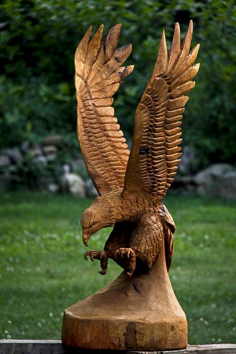 Ft eagle carving in v formation custom sculpture