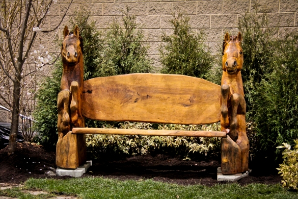 wood carving benches