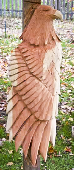 Cedar eagle carving in relief custom wood carvings more