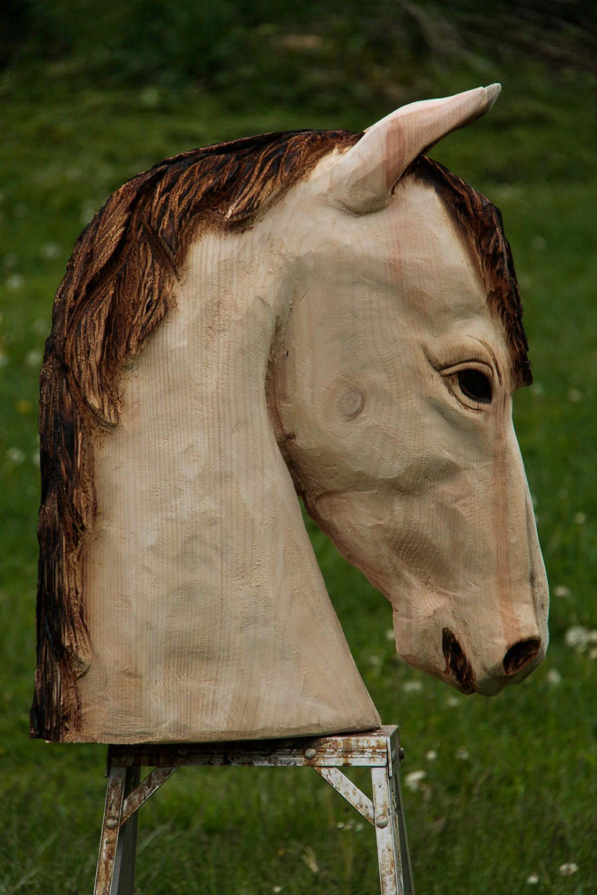 Horse Head Carving Custom Sculpture Amp Sign Company