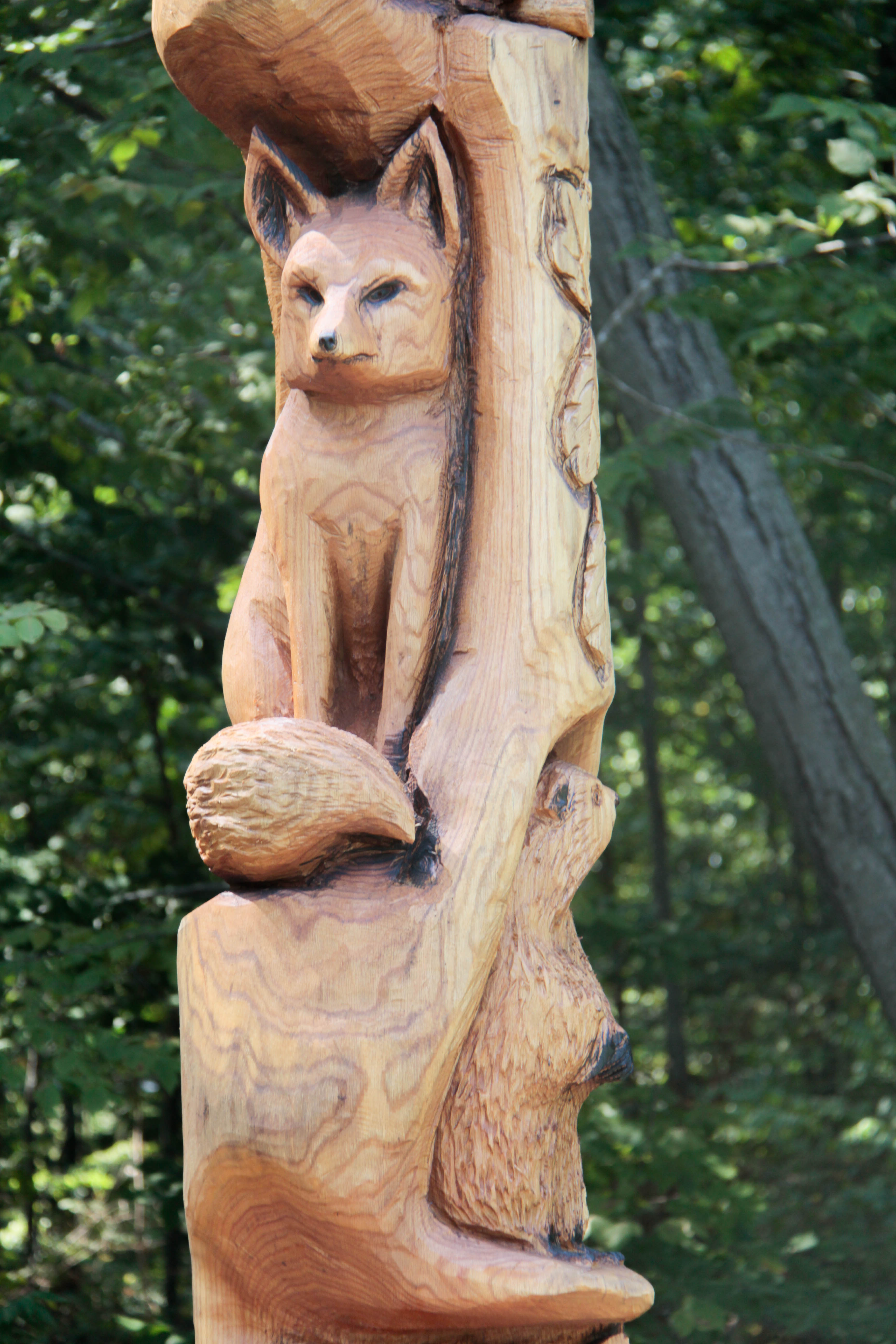Ft multiple animal carving custom sculpture sign