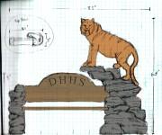 tiger bench sketch
