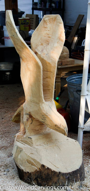 Lake tahoe eagle carving custom sculpture sign company
