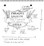 Farmers Union sign sketch