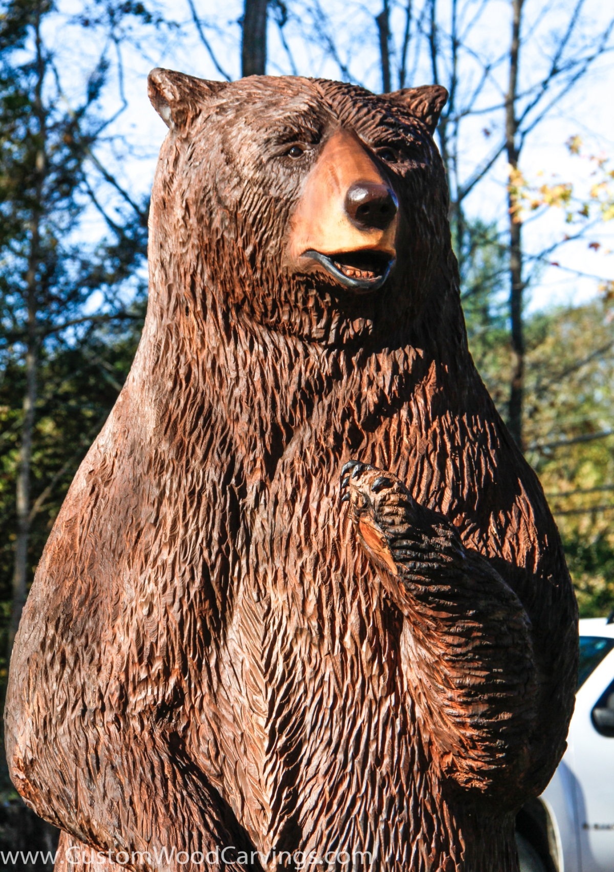 9 Ft Brown Bear Carving Custom Sculpture Amp Sign Company