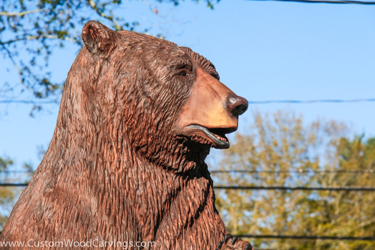 Ft brown bear carving custom sculpture sign company