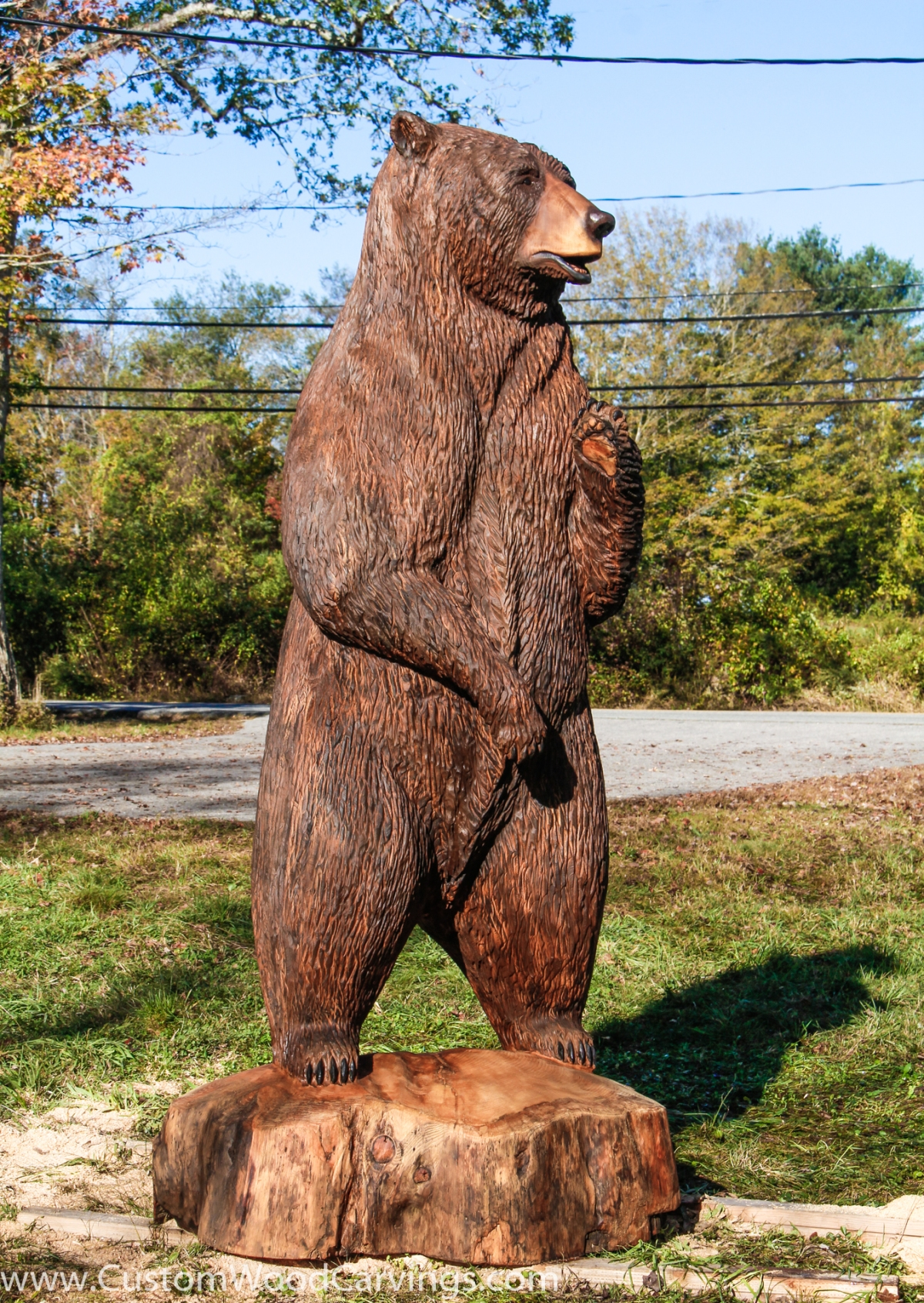 Top 9 ft. Brown Bear Carving – Custom Sculpture & Sign Company IM34